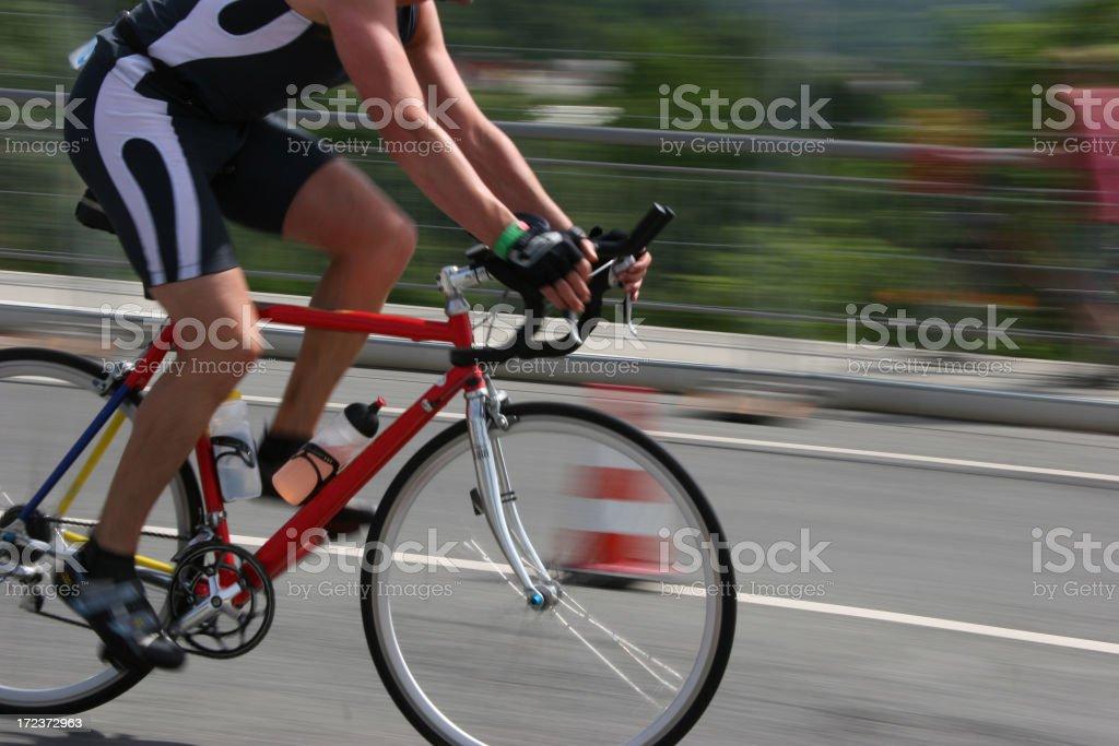 racing cyclist royalty-free stock photo