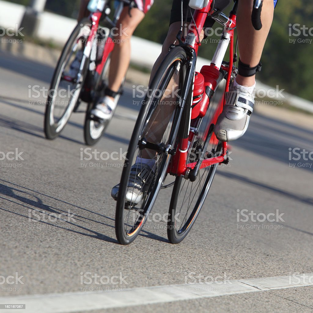 Racing Cyclists royalty-free stock photo