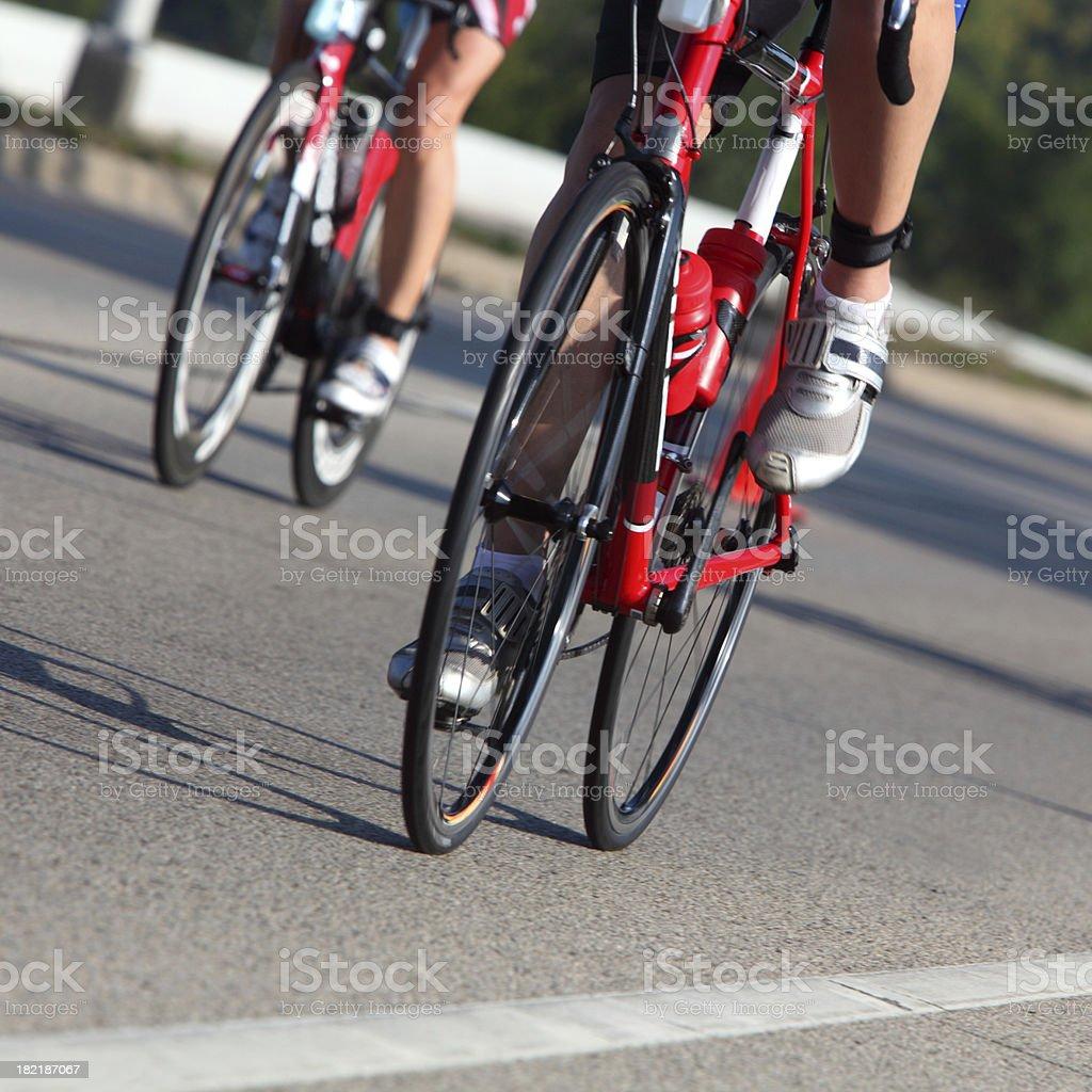 Racing Cyclists stock photo