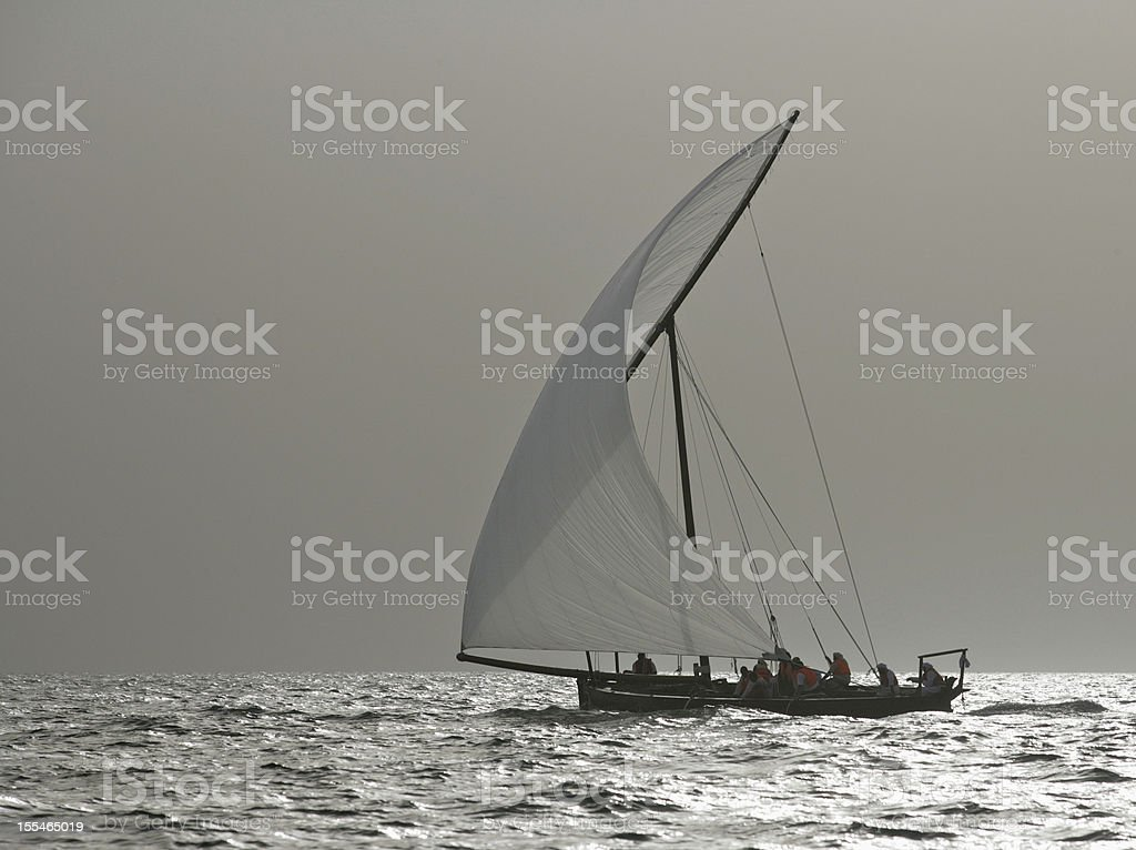 Racing Dhows royalty-free stock photo
