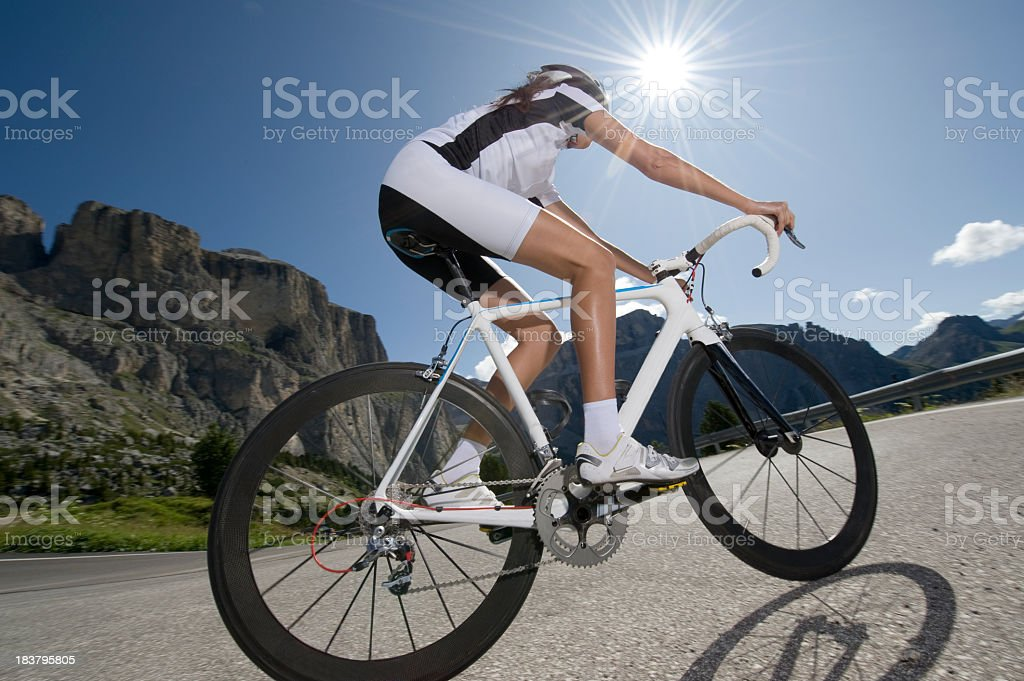racing driver in the photographed against light royalty-free stock photo