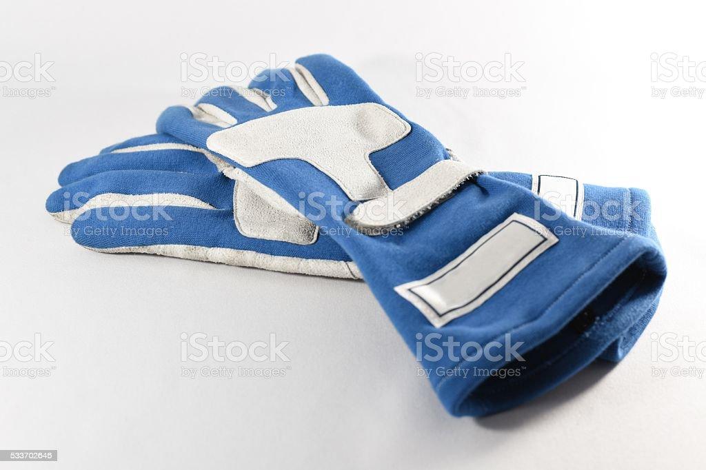 racing glove / driving glove / racing gear stock photo