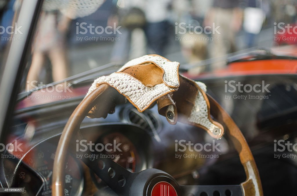 Racing gloves stock photo