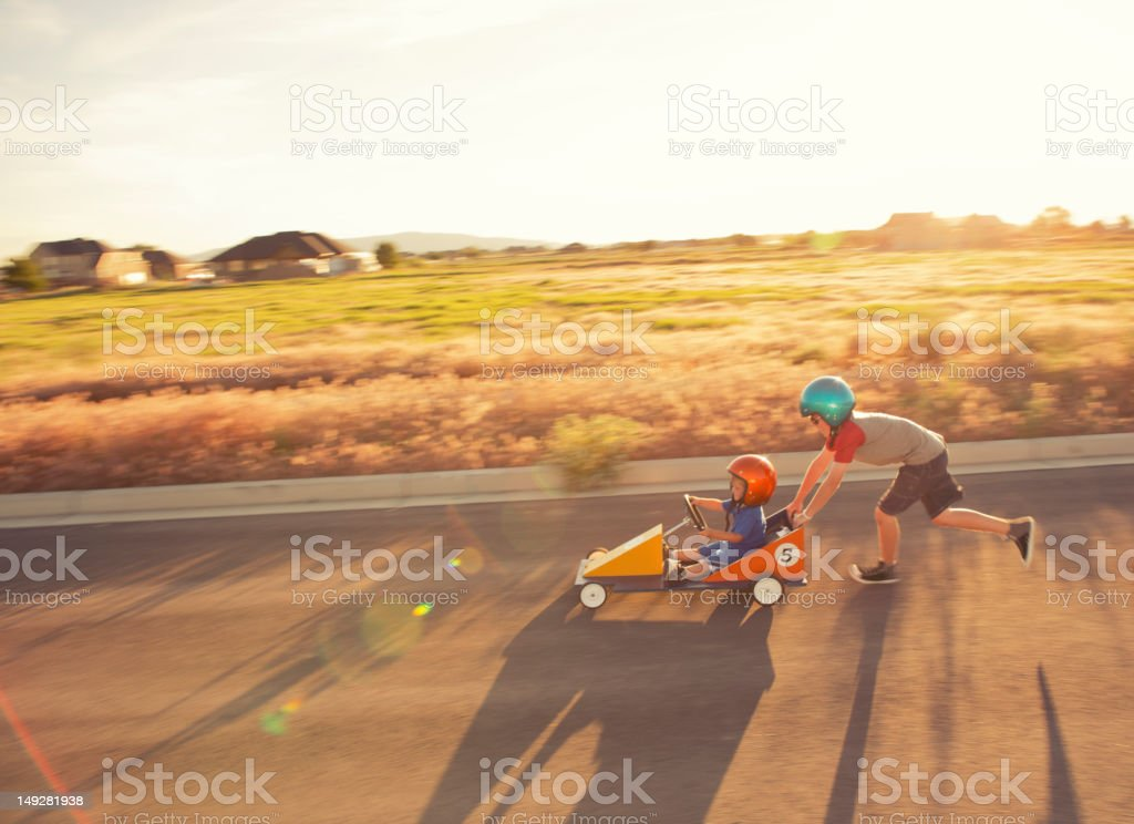 Racing Kids royalty-free stock photo