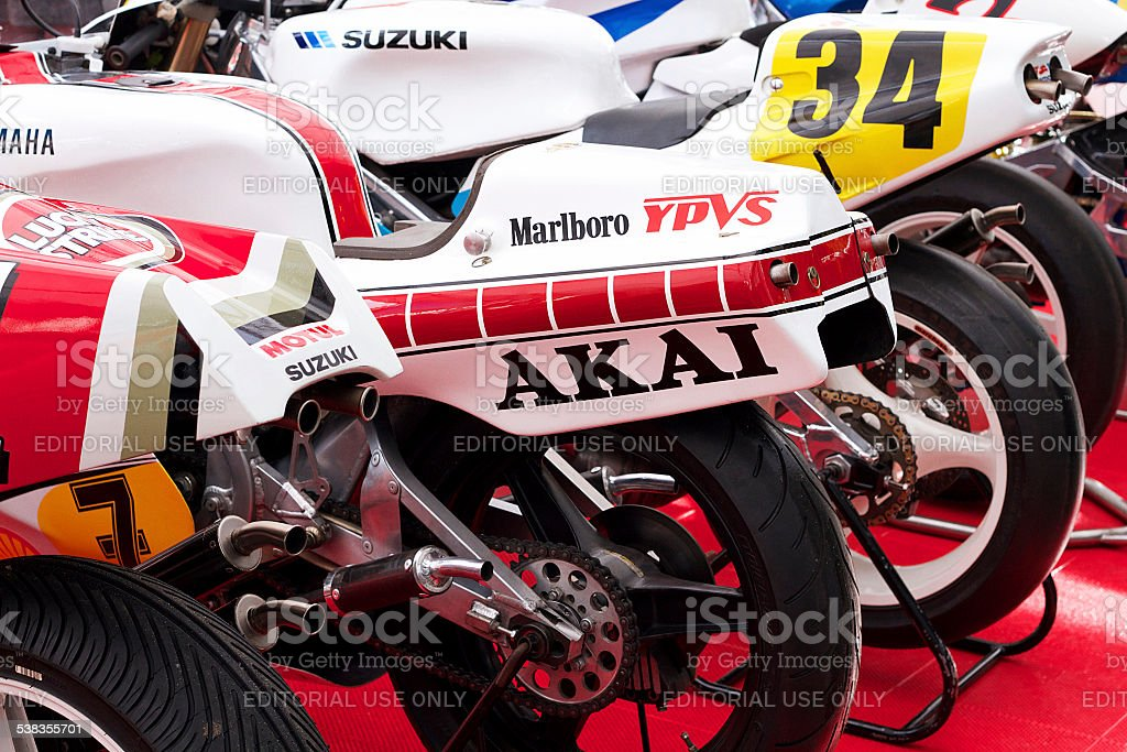 Racing motociclette foto stock royalty-free