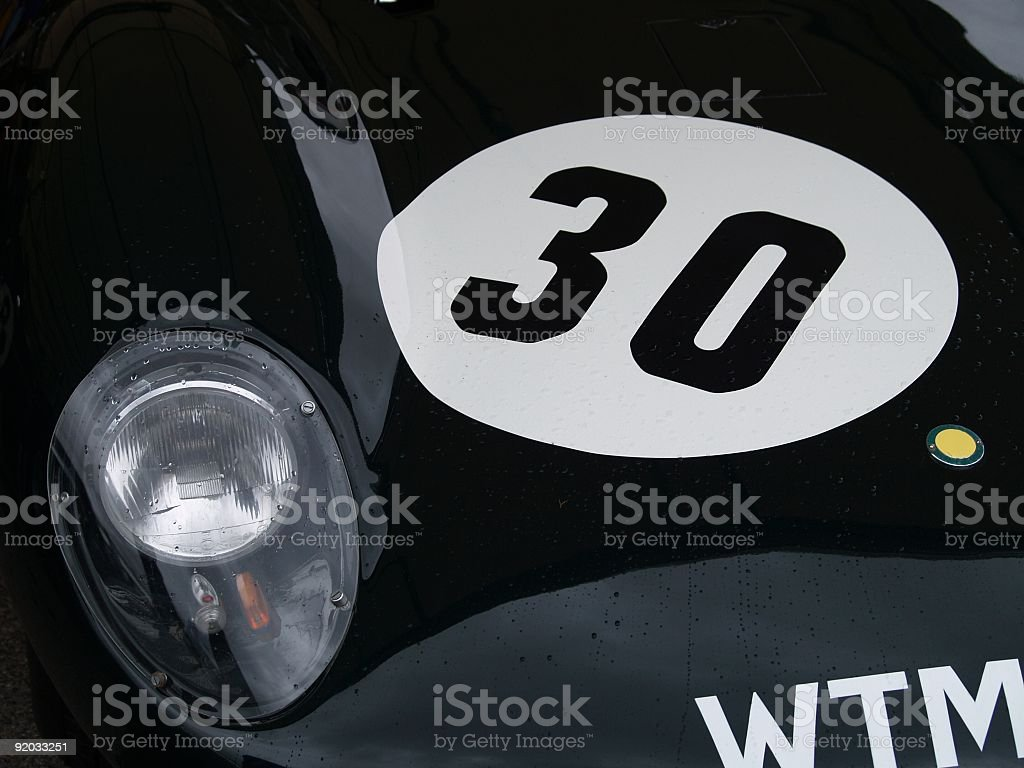 Racing Number 30 royalty-free stock photo