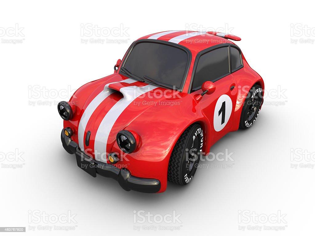 Racing retro car. royalty-free stock photo