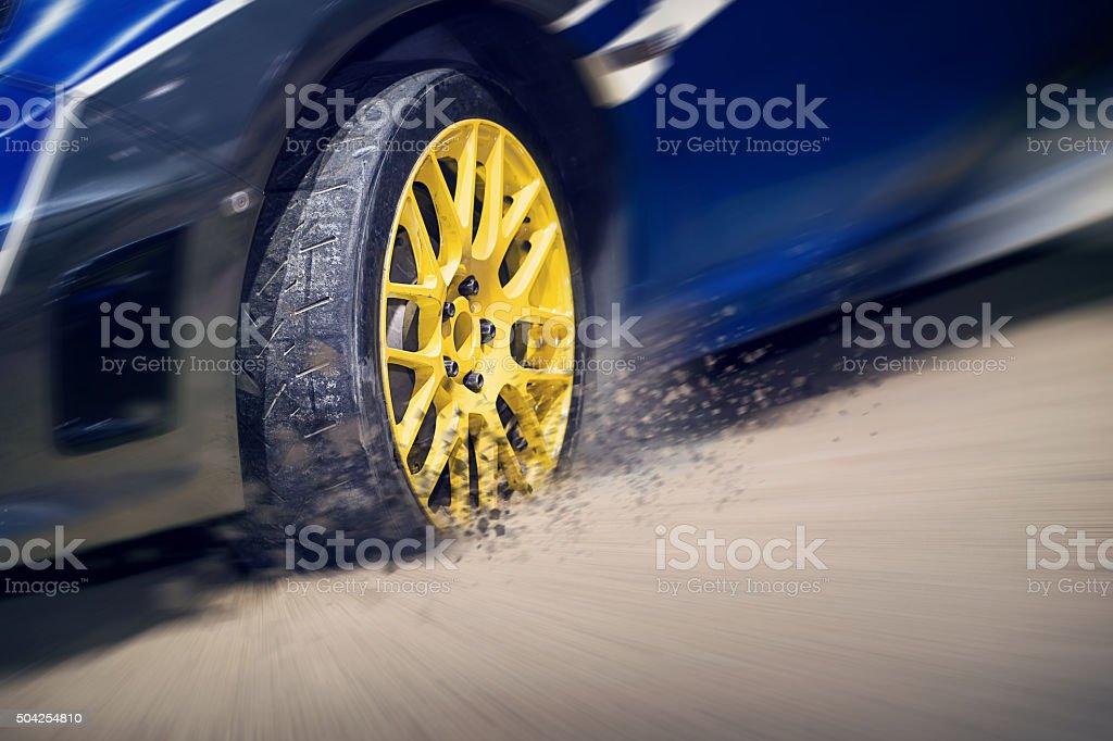 Racing sport car stock photo