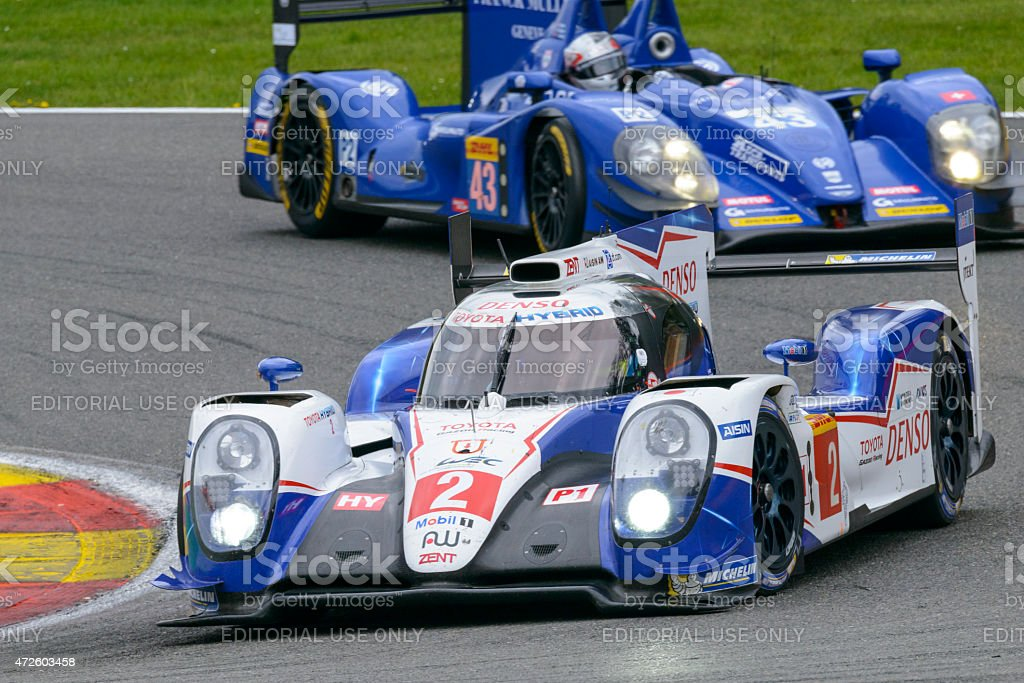 TOYOTA GAZOO Racing Toyota TS 040 - Hybrid race car stock photo