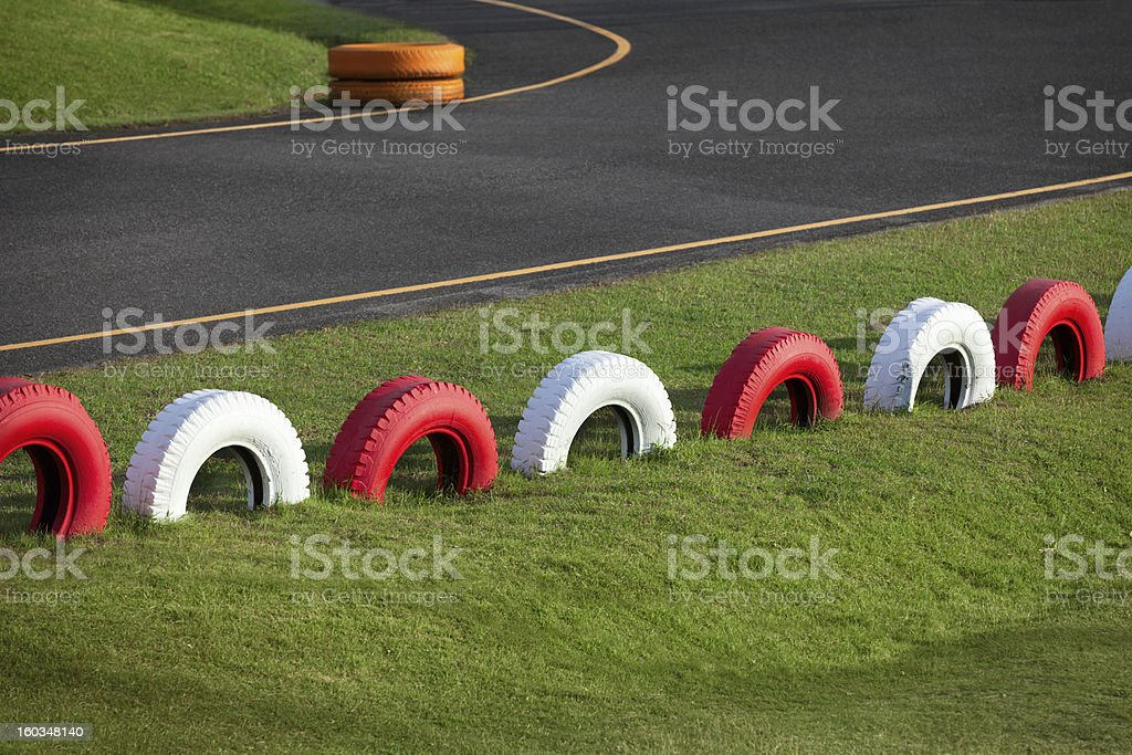 Racing track for karting royalty-free stock photo