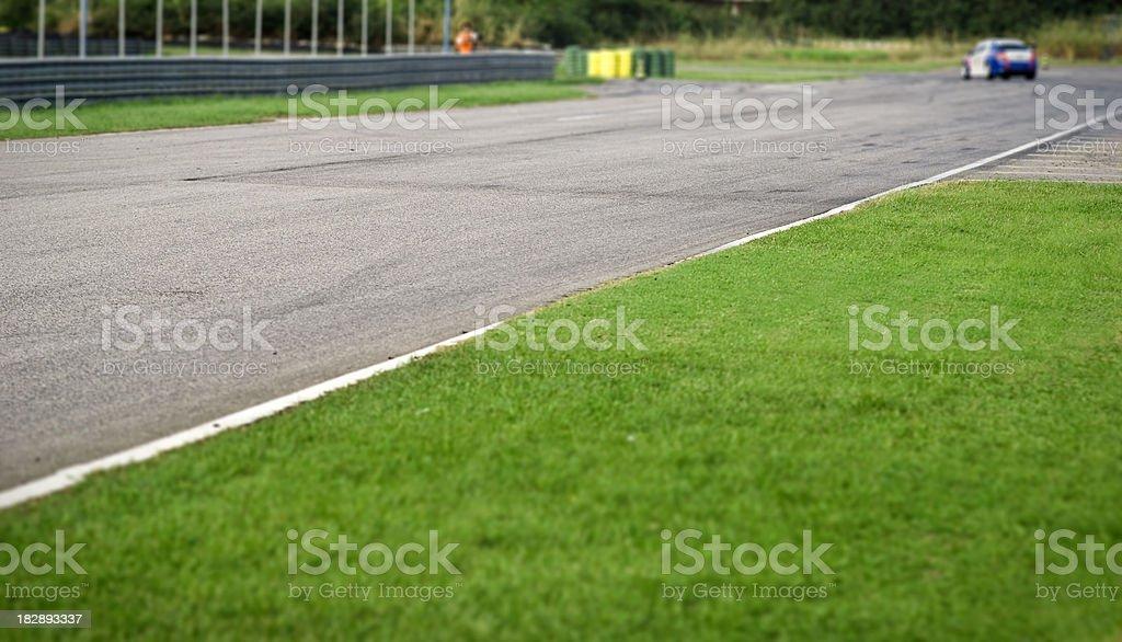 Racing track stock photo