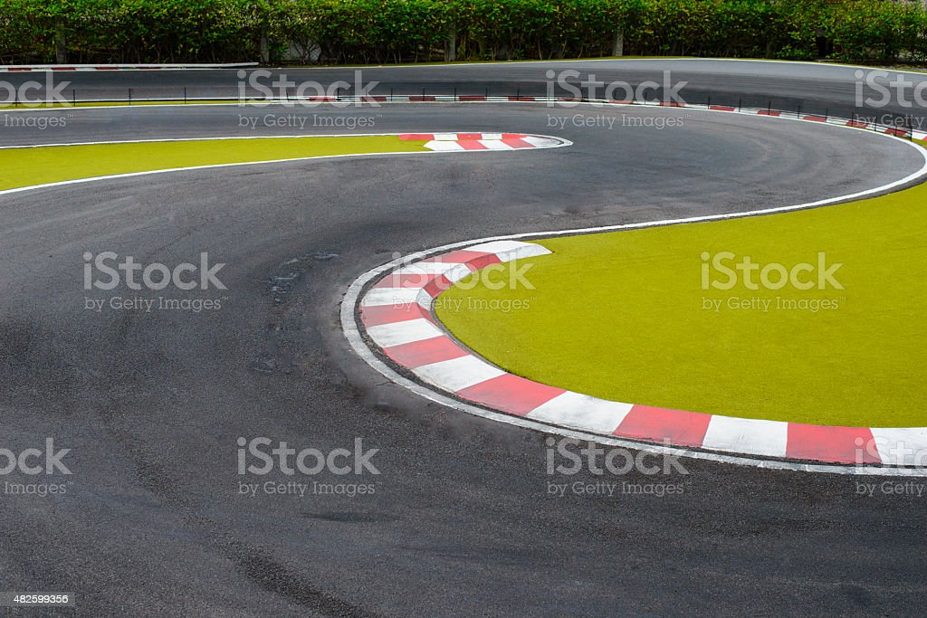 Racing track stock photo