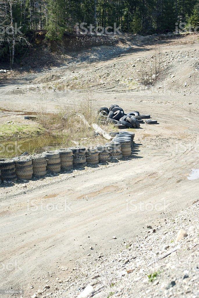 Racing Track Turn royalty-free stock photo