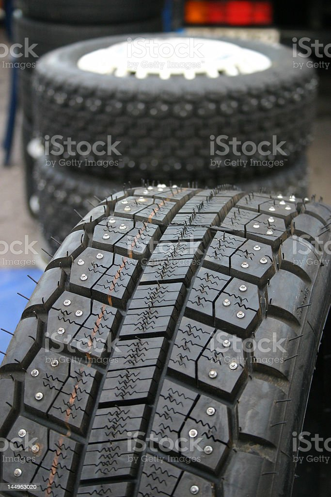 Racing tyres royalty-free stock photo