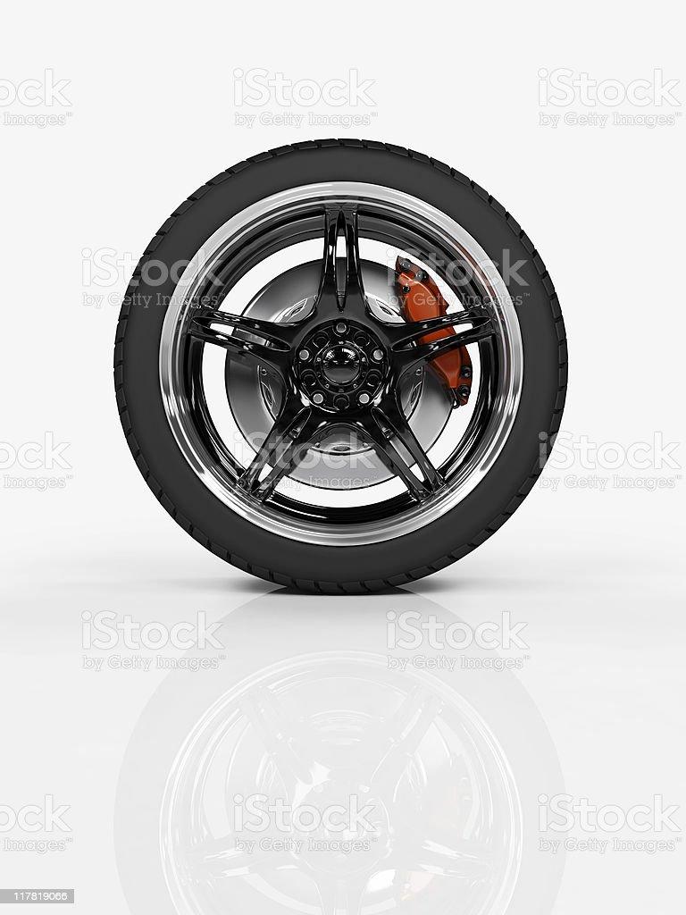 Racing wheel royalty-free stock photo