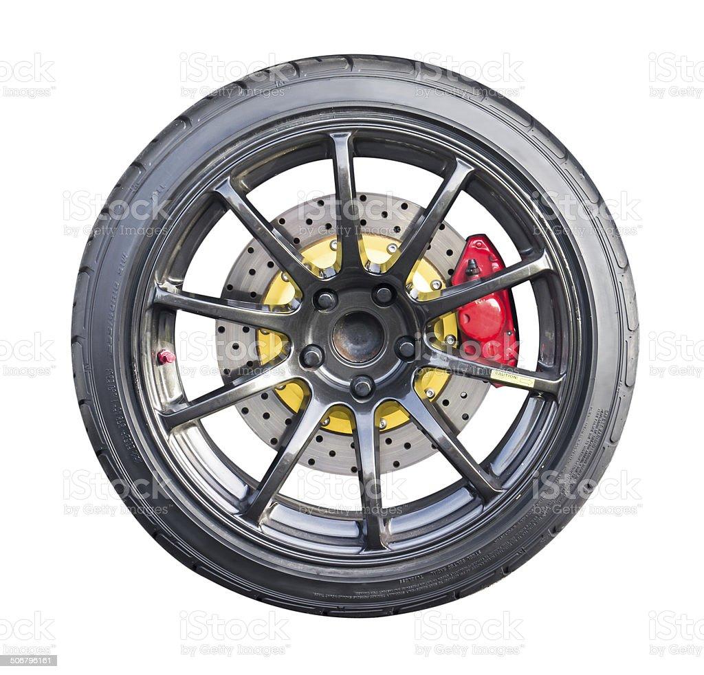 racing wheel stock photo