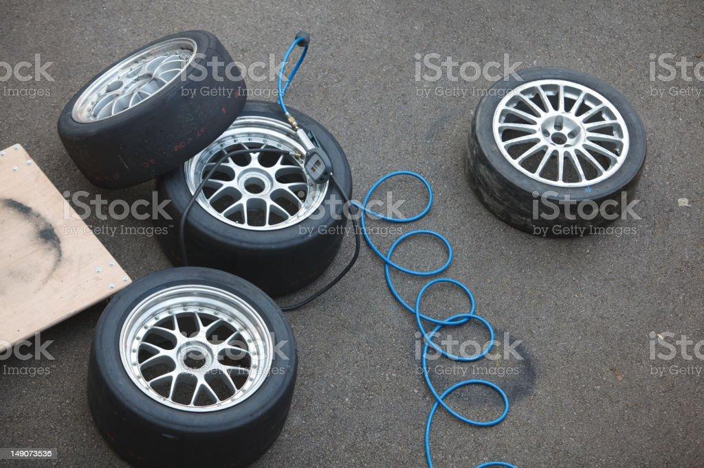 Racing Wheels stock photo