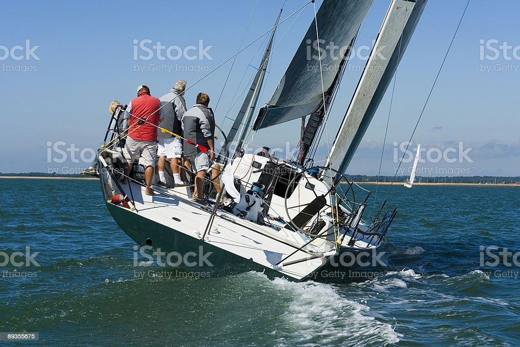 Racing Yacht stock photo
