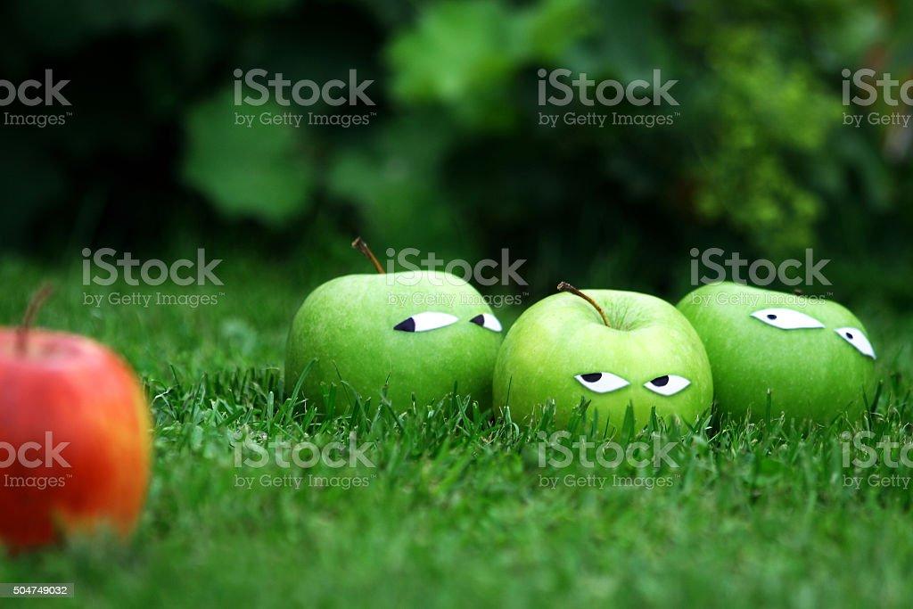 Racist Apples stock photo