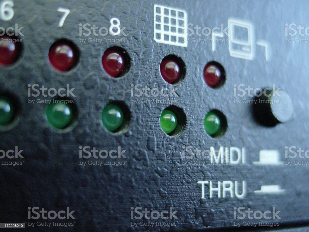 Rack Mounted MIDI royalty-free stock photo