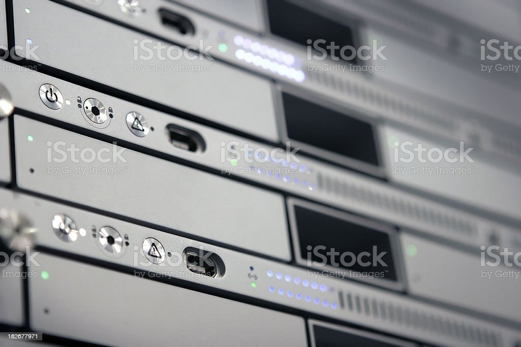 Rack Mounted Server royalty-free stock photo