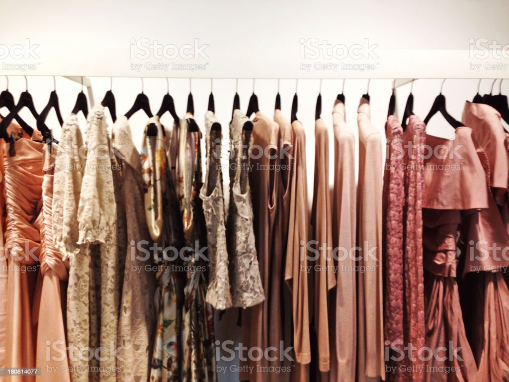 Rack of dresses stock photo