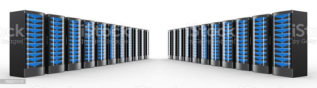 Rack of High Performance Servers stock photo