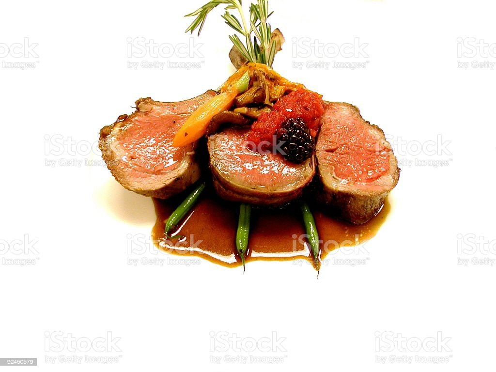 Rack of Lamb and Antelope stock photo