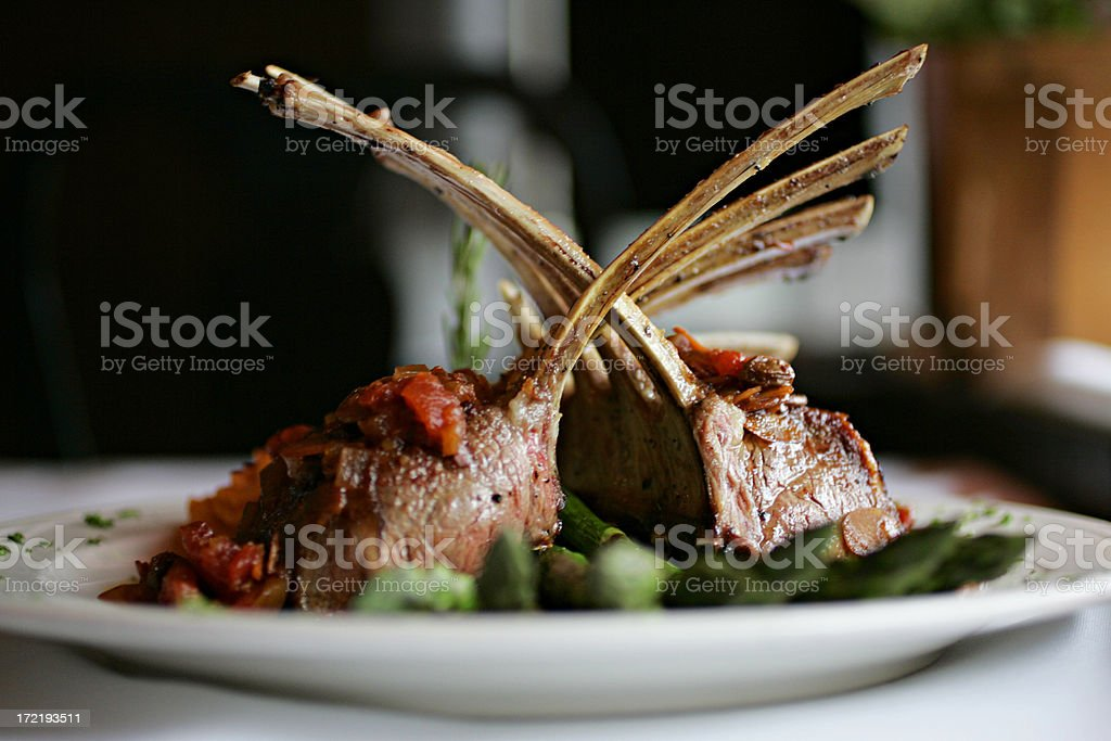 Rack of Lamb center focus stock photo