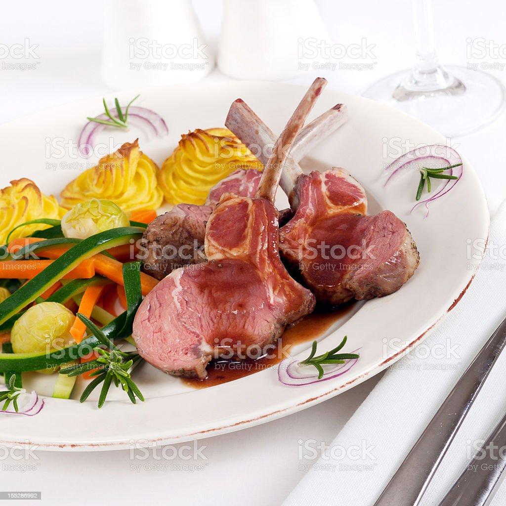 Rack of Lamb Dinner royalty-free stock photo
