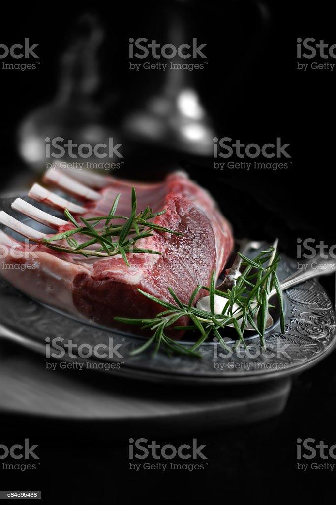 Rack of lamb stock photo