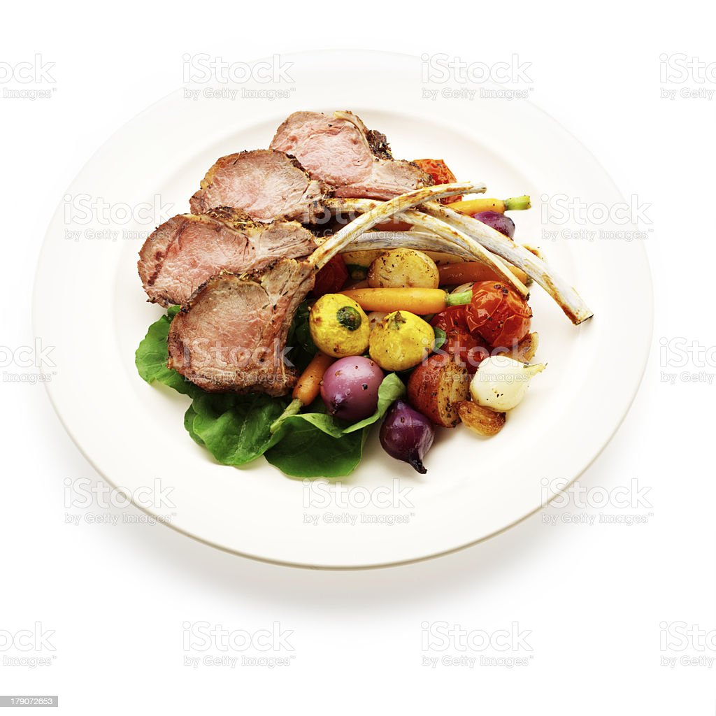Rack of Lamb Plate stock photo