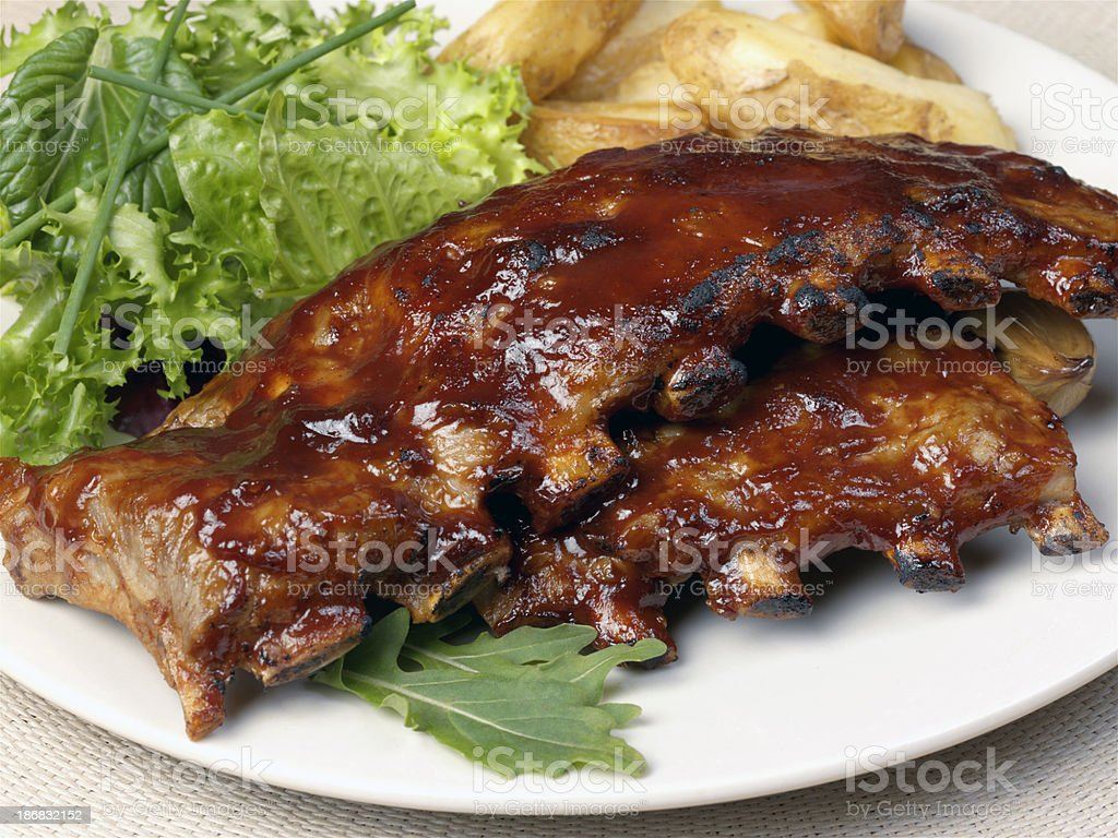 Rack of Pork Loin royalty-free stock photo