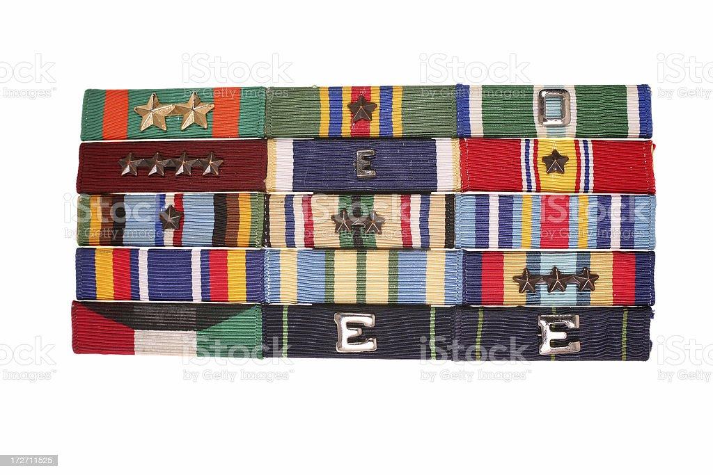 Rack of Ribbons royalty-free stock photo