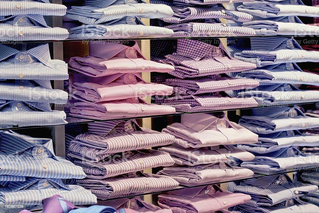 rack of shirts royalty-free stock photo
