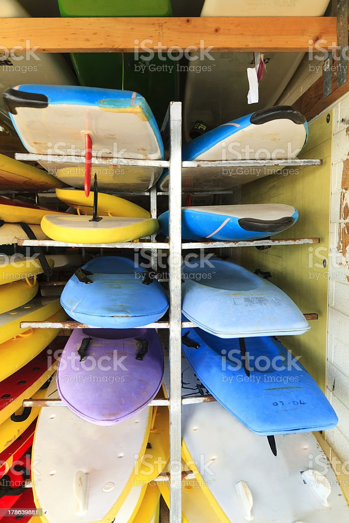 Rack of surfboards royalty-free stock photo