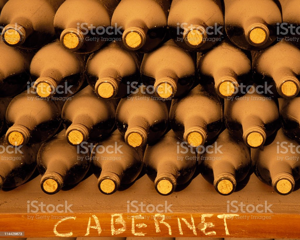 Rack of wine royalty-free stock photo