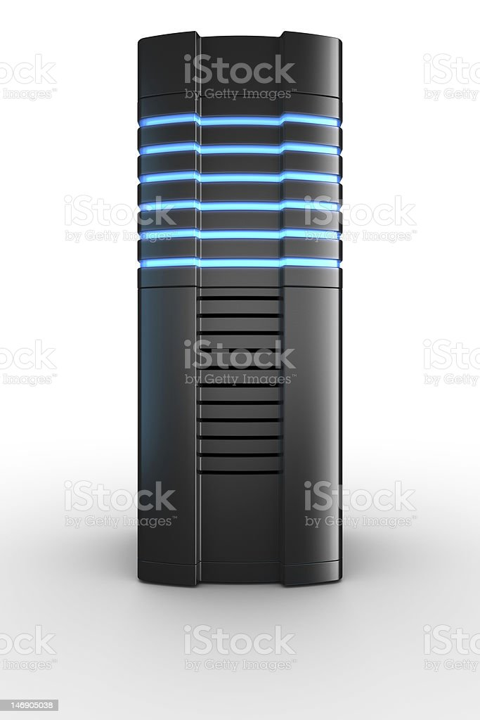 Rack server on white background stock photo