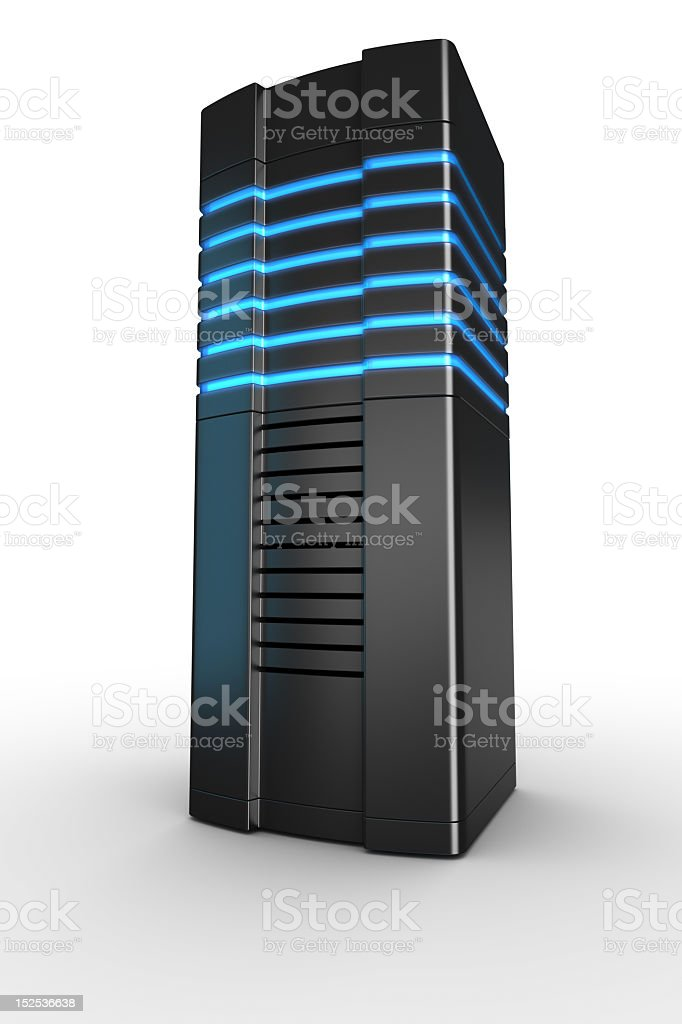 Rack server on white background royalty-free stock photo