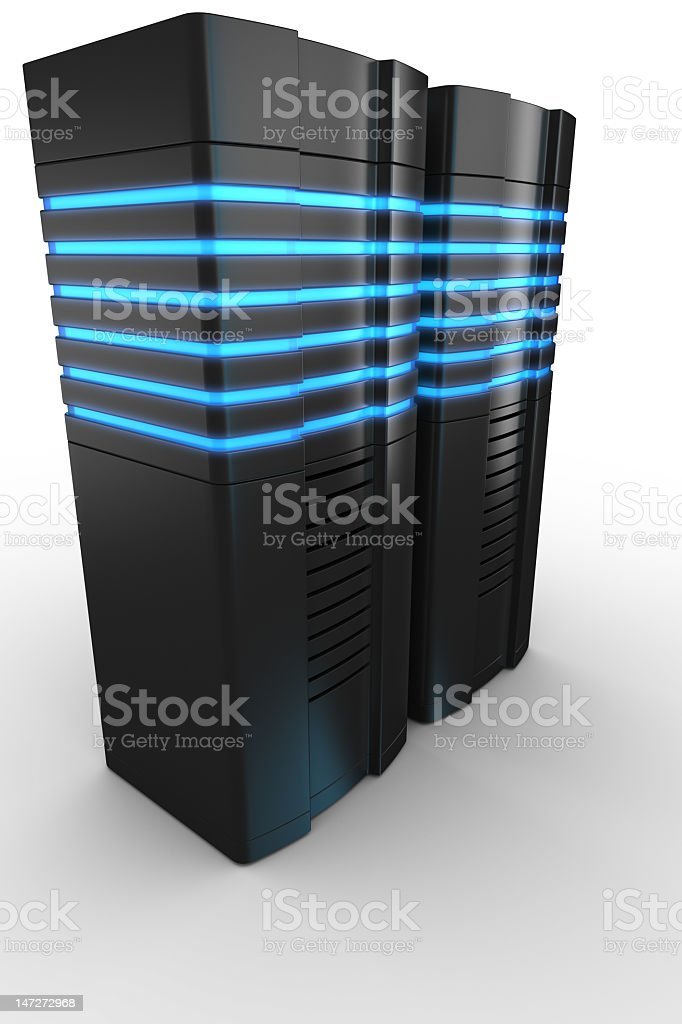 Rack servers on white background royalty-free stock photo