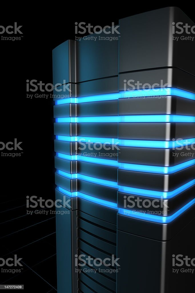 Rack servers royalty-free stock photo