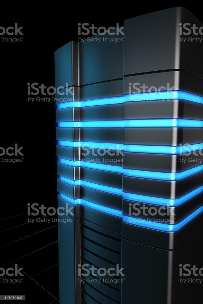 Rack servers stock photo