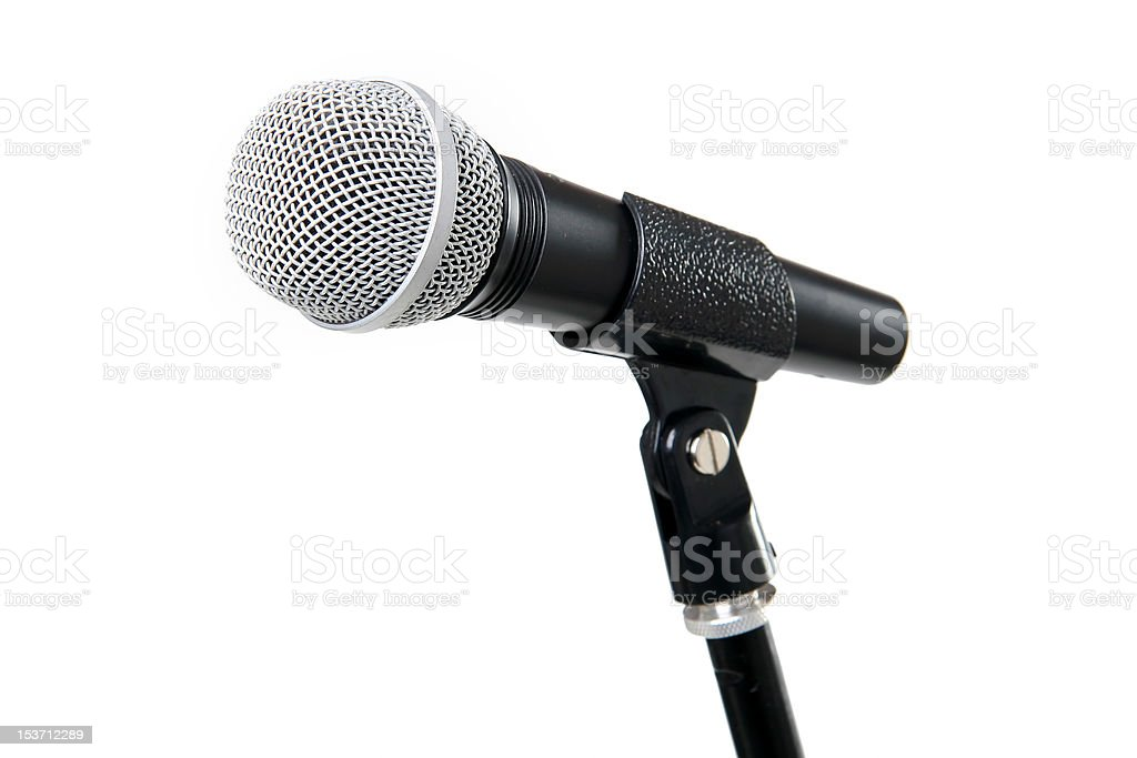 Rack with a microphone royalty-free stock photo