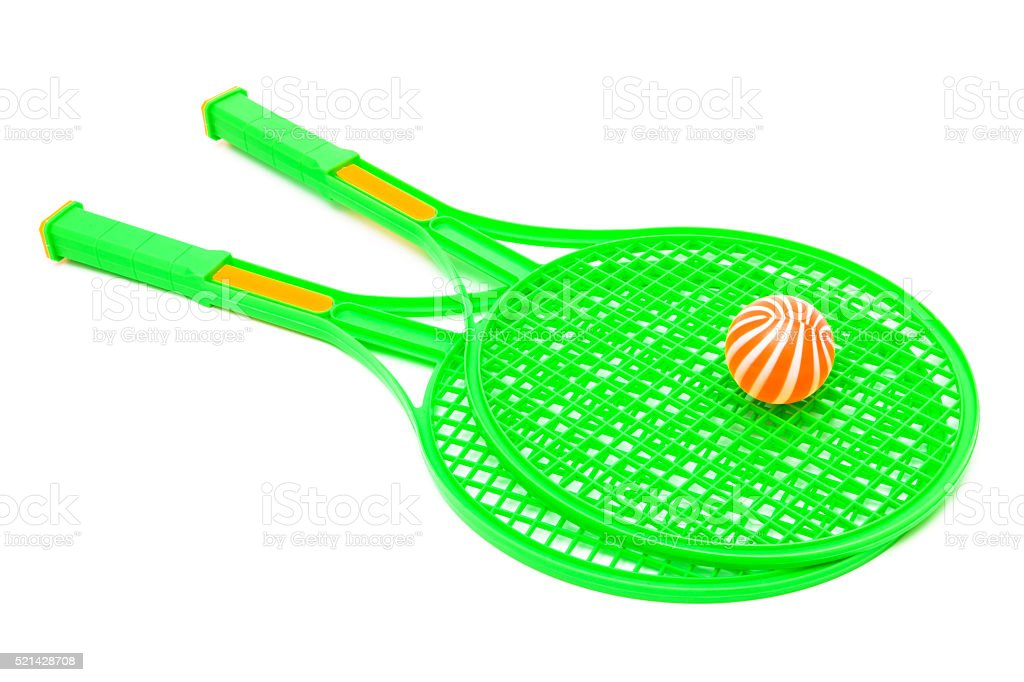 racket and ball stock photo