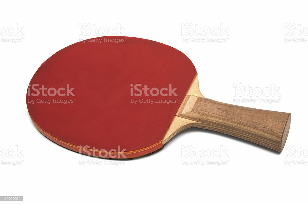 racket for ping-pong stock photo
