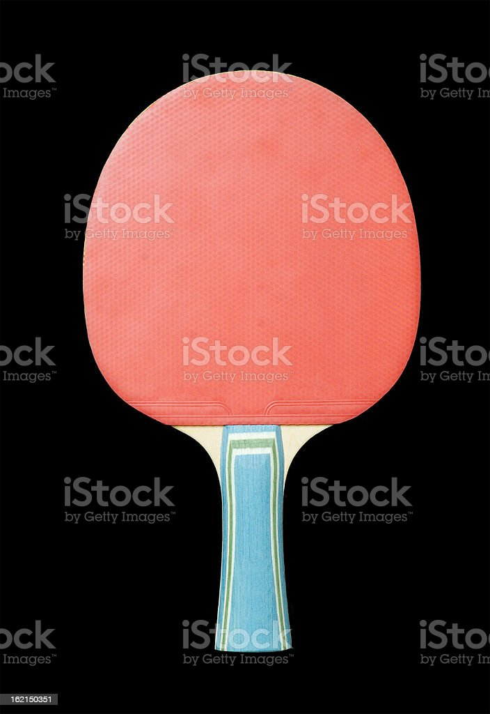 Racket for table tennis isolated on black royalty-free stock photo