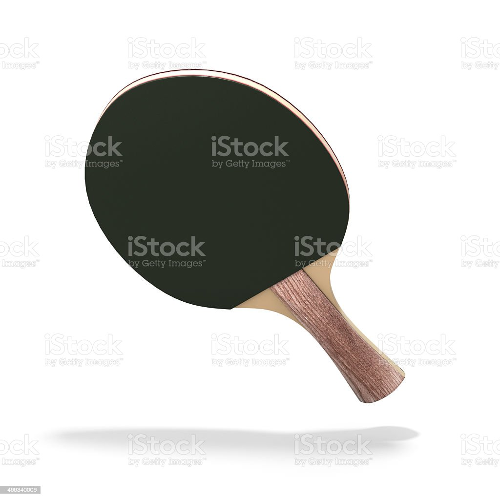 Racket ping-pong table stock photo