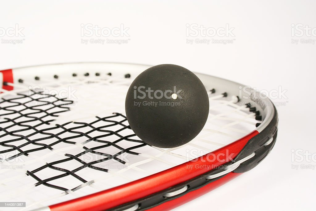 Racket squash royalty-free stock photo