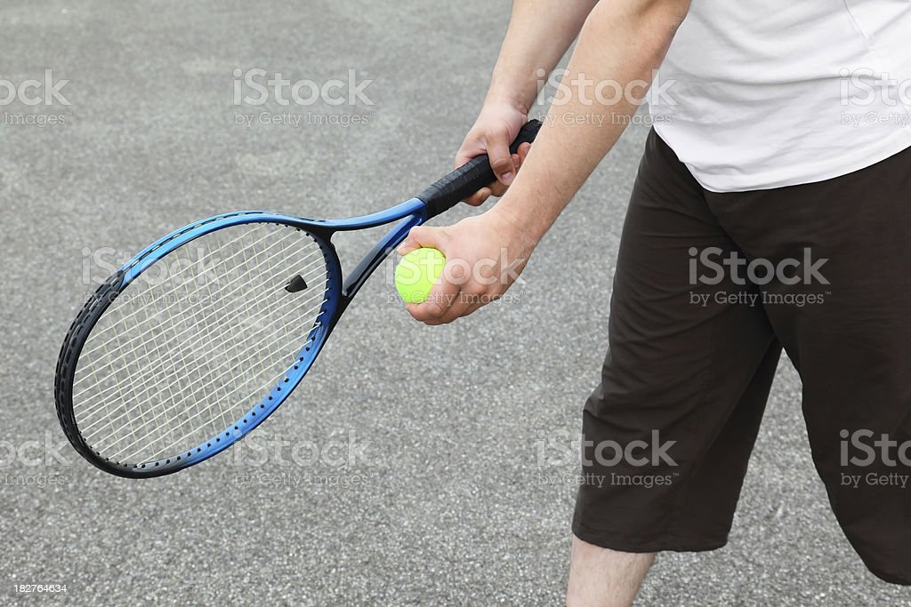 Tenis racket royalty-free stock photo