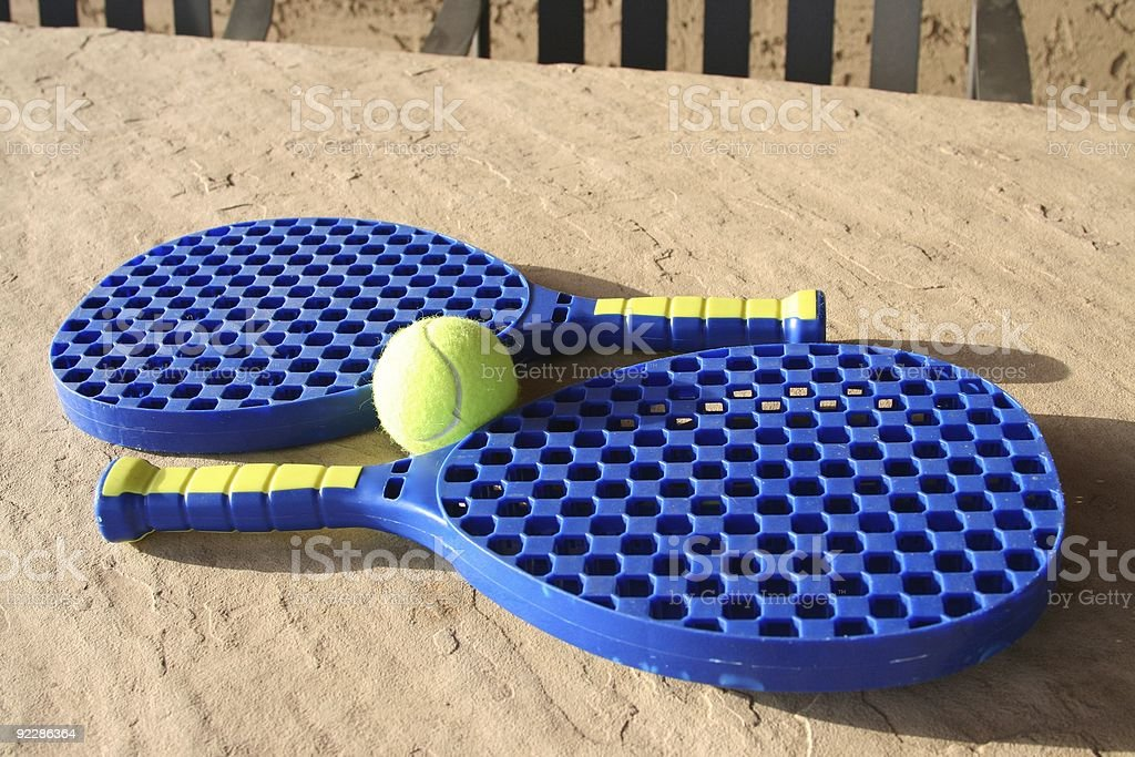 Rackets and tennis ball royalty-free stock photo